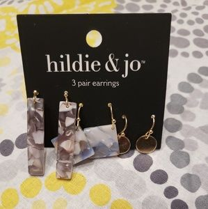 Hildie & Jo earrings. NWT